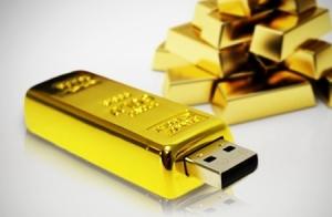 USB Lingote de oro. 16 ó 32 GB